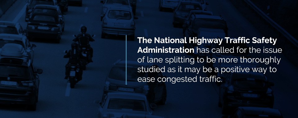 why motorcyclists lane split