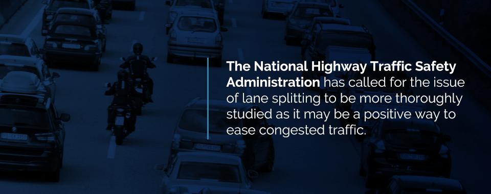 why motorcyclists lane split